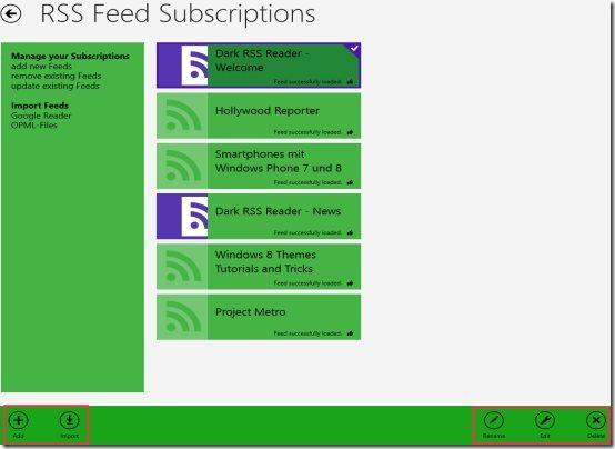 Windows 8 RSS Reader