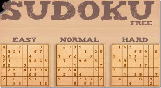Windows 8 Sudoku