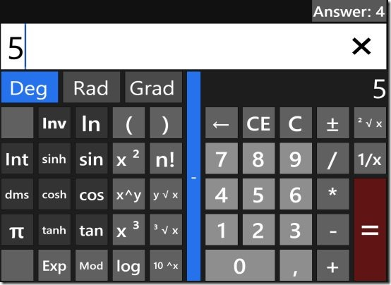 Windows 8 calculator app