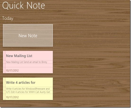 Windows 8 note-taking app
