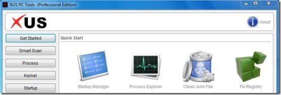 XUS PC Tools free PC diagnostic software