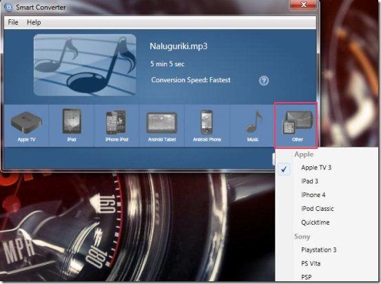convert videos smart convert options