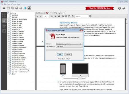 deskPDF Reader changed view