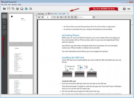 deskPDF Reader opened document