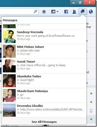 facebook messenger for firefox messages