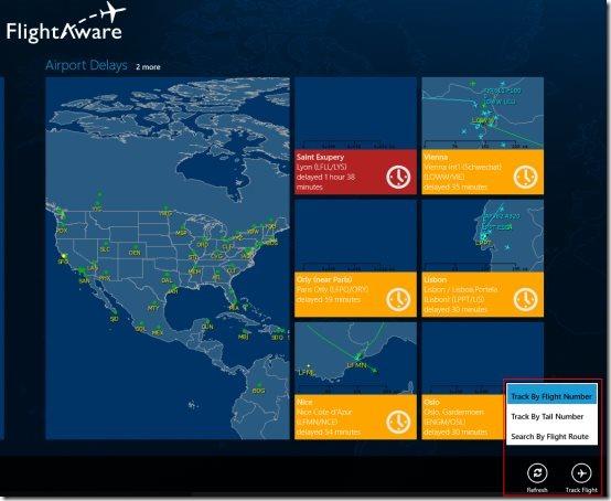 flight tracking Windows 8 app