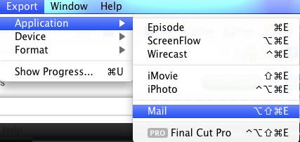 flip4mac export to mail