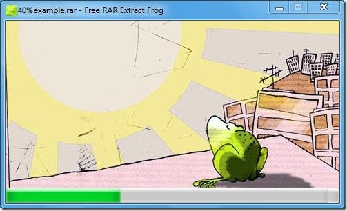free RAR Extract Frog unrar files