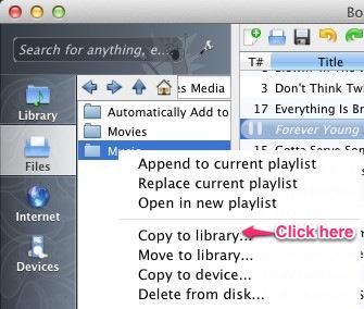 how to add media clementine screenshot