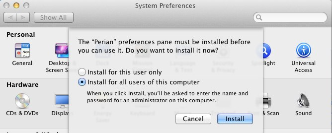 how to install persian prefernce panel