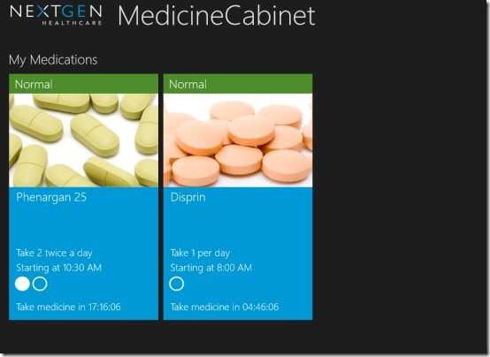 medication Windows 8 app