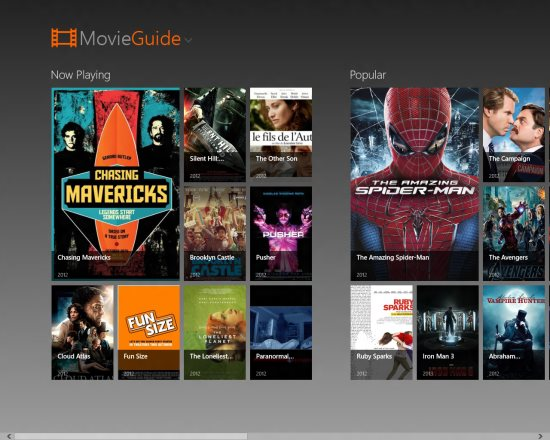 movie guide screenshot