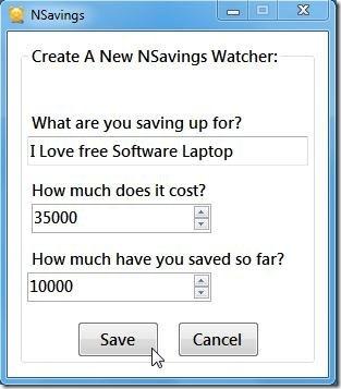 nsavings initial settings