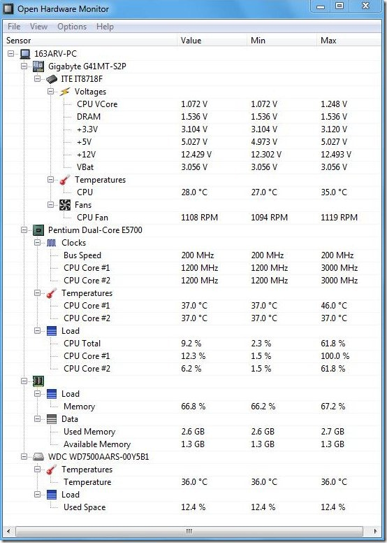 open hardware monitor monitoring