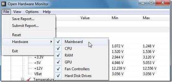 open hardware monitor options