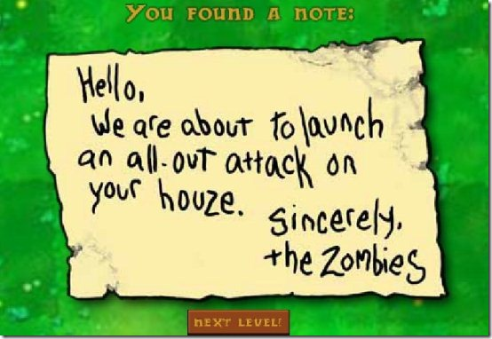 plant vs zombies note
