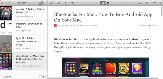 pocket for mac screen shot