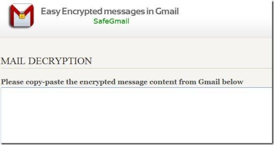 safegmail encryption