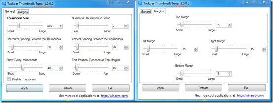 taskbar thumbnails tuner options