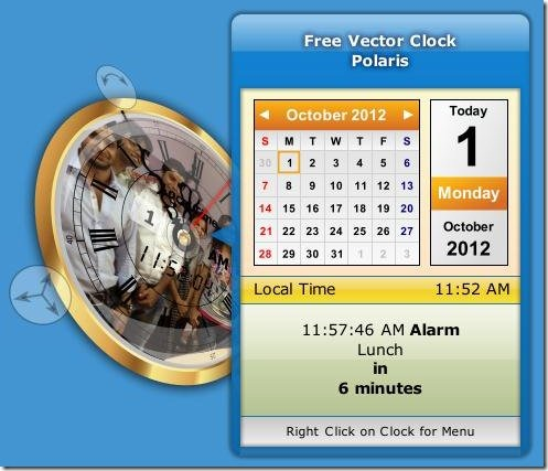vector clock customized