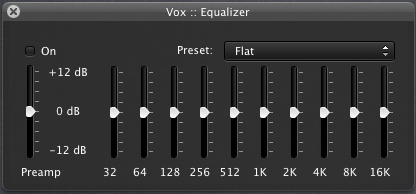 vox for mac equilizer