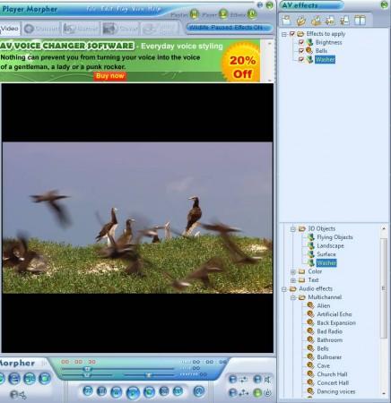 AV DVD Player Morpher adding effects