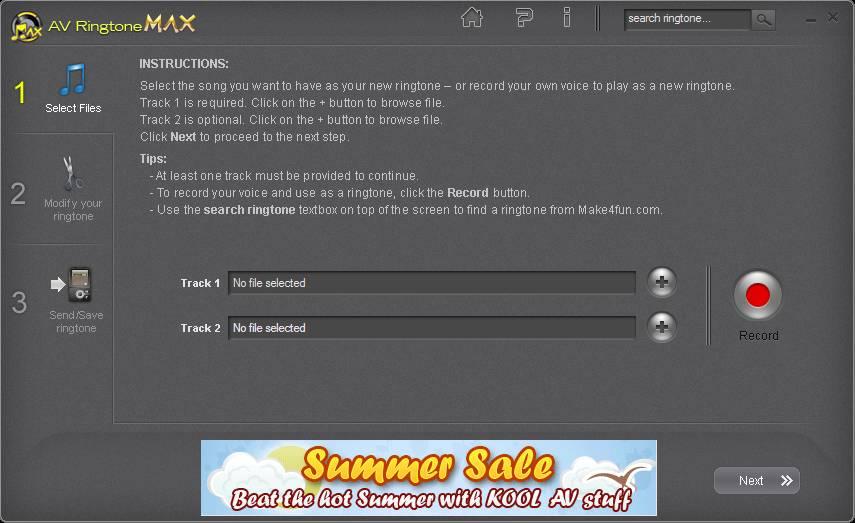 AV RingtoneMAX free ringtone maker