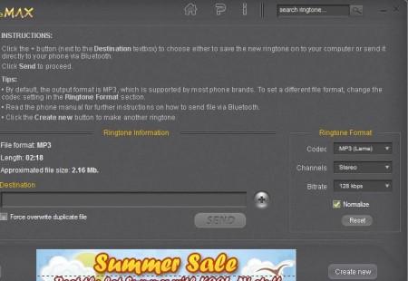 AV RingtoneMAX exporting ringtone
