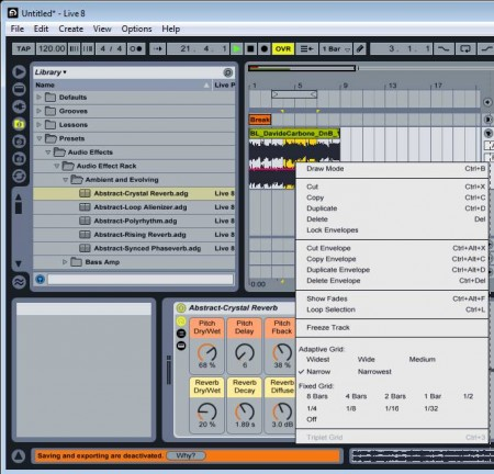 Ableton Live bassic editing