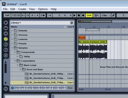 Ableton Live session tracks