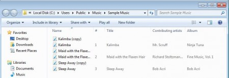 Audio Converter converted songs