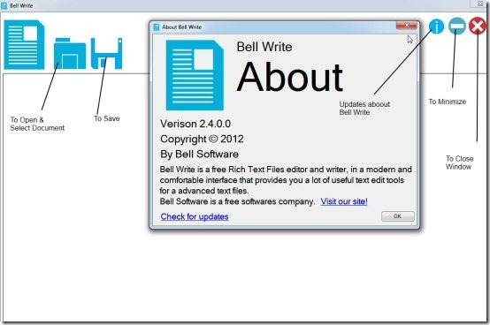 Bell Write free text editor