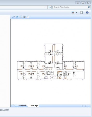 Bentley DGN Reader sidebar preview plan