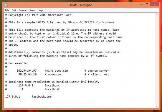 Block Websites In Windows