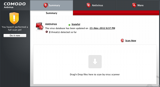 COMODO Antivirus mac screenshot