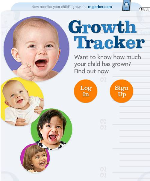 Child Growth Tracker default window