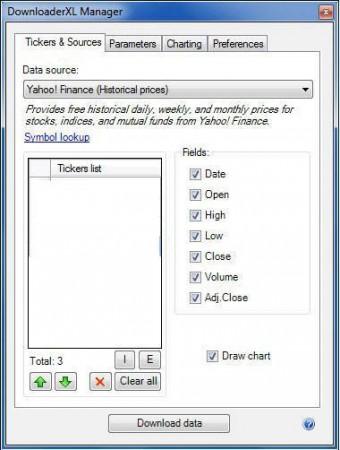 DownloaderXL Free default window