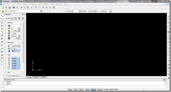DraftSight interface