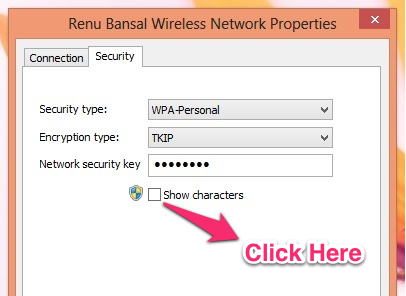 recover the wifi password from windows 8