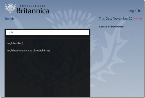 Encyclopedia Britannica App01