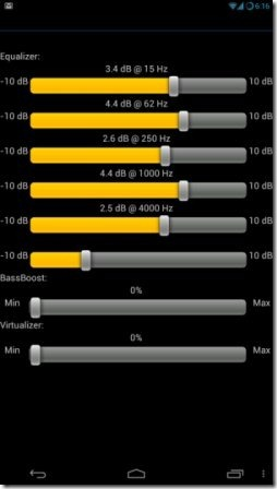 Android Equalizer App to Control Volume Presets of All Media