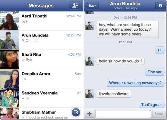 iPhone Facebook Messenger