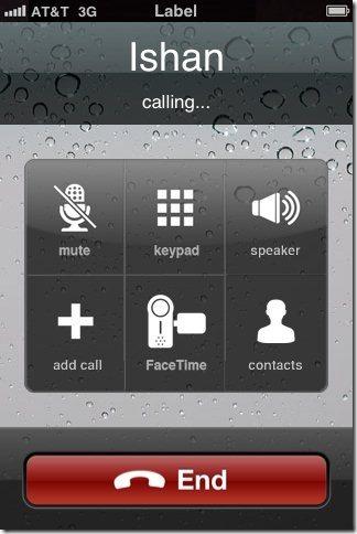 Fake A Call Caller interface