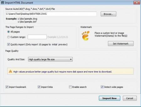 Flip AutoCAD importing