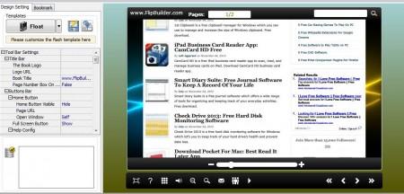 Flip HTML editing flip book