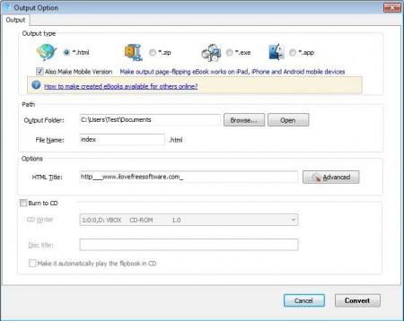 Flip HTML exporting flipbook