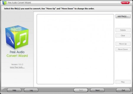 Free Audio Convert Wizard default window