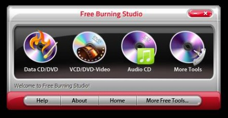 Free Disc Burning Software default window