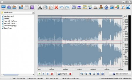 Freemore Ringtone Maker opened file editing