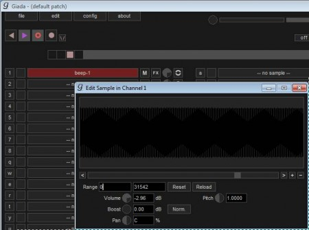 Giada mixing samples editing waveform